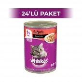Whiskas Sığır Etli Soslu Yetişkin Kedi Konservesi 400 gr 24 Adet