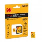Kodak Mikro SD 128GB UHS-I U3 Ultra Performans Hafıza Kartı