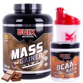 Mass Gainer 3 KG - BCAA 60 Servis Şeftali Bulk Nutrition Kalite ve Güvencesiyle + Shaker