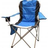 Walke Kamp Sandalyesi Katlanır Büyük Boy Taşıma Çantalı Mavi