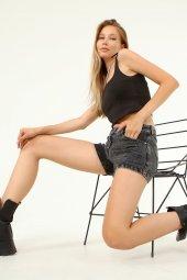 Laria Jeans Leya Denim Siyah Şort