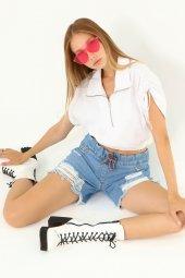 Laria Jeans Liona Denim Mavi Şort