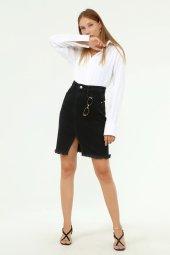 Laria Jeans Lua Denim Siyah Etek