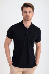 Morven Erkek Basic Polo Yaka Armürlü T-Shirt Lacivert