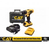Pro Cat Plus XR5961   42W 6A  Metal Şanjumanlı Çift Akülü Darbeli Vidalama Matkap Çantalı