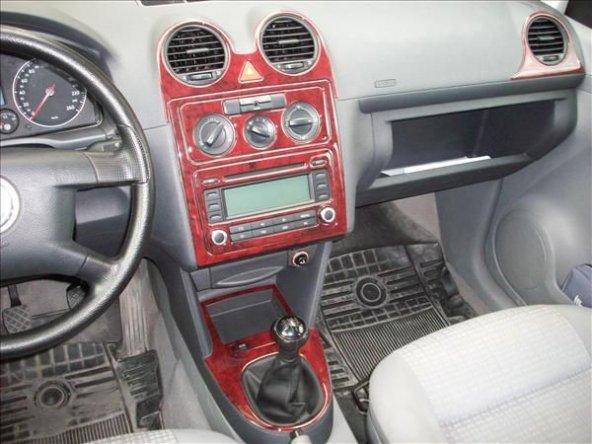VW CADDY 2004>  17 PARÇA TORPİDO KAPLAMASI GÜMÜŞ