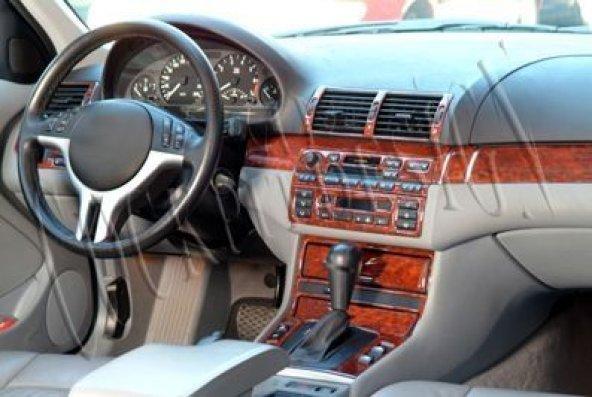 BMW E46 1998-2004  29 PARÇA TORPİDO KAPLAMASI KARBON