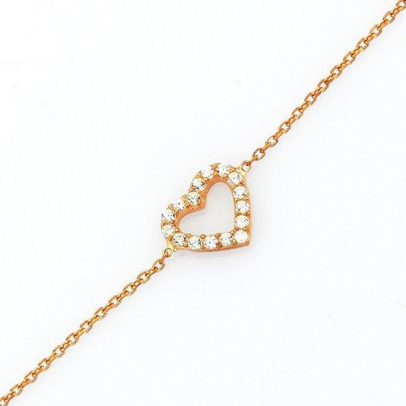 Gümüş Mini Kalp Bileklik