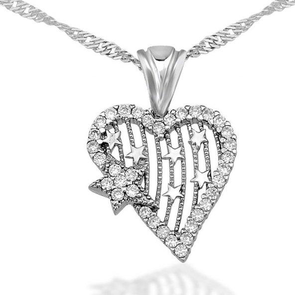 Kalbimin Yıldızı Gümüş Kolye