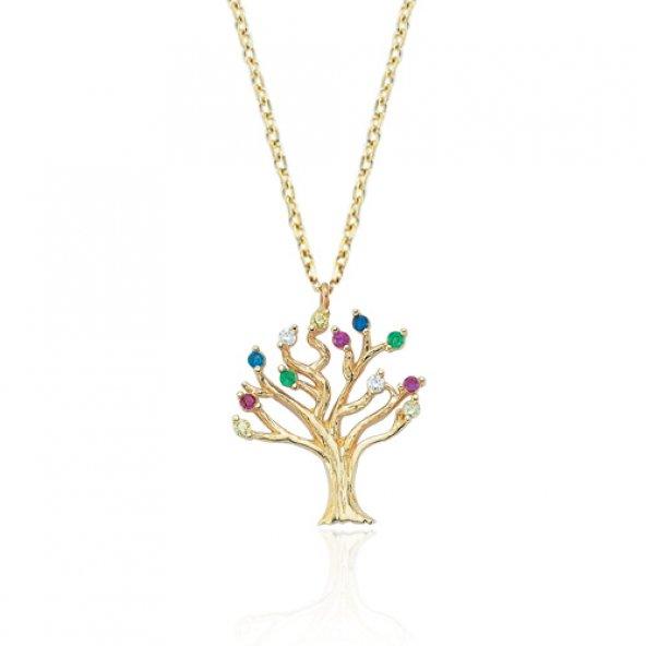 Glorria Altın Hayat Ağacı Kolye