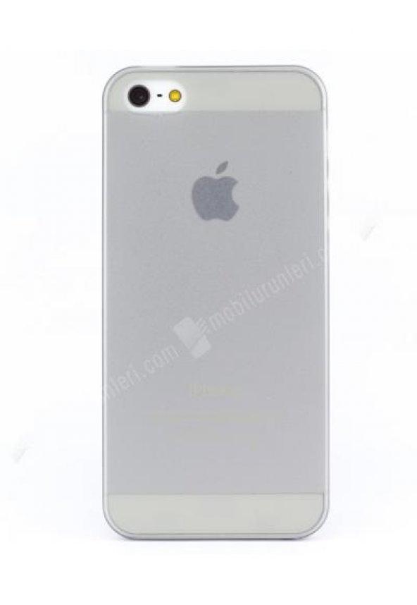 Iphone 5/5s Ince Beyaz Şeffaf  Kılıf