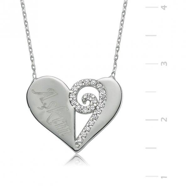 Aşkım Kalp Gümüş Kolye