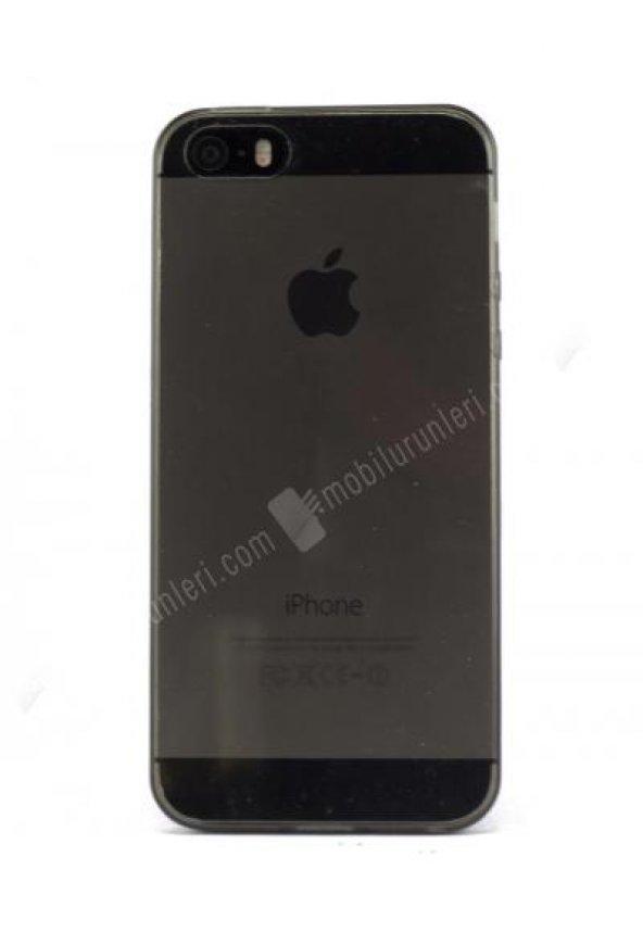 Siyah Tam Şeffaf 0.30m Iphone 5/5s Silikon Kılıf