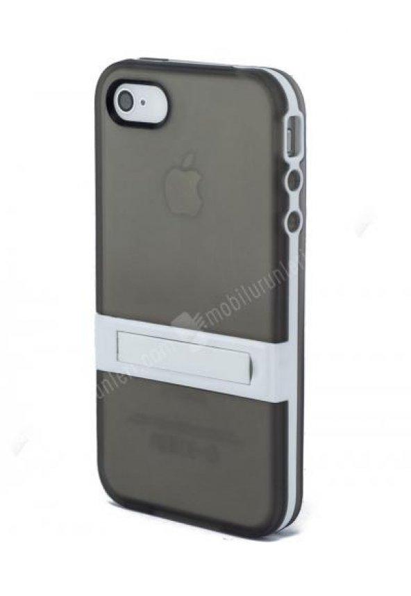 Standlı Füme İnce  Iphone 4/4s  Silikon Kılıf