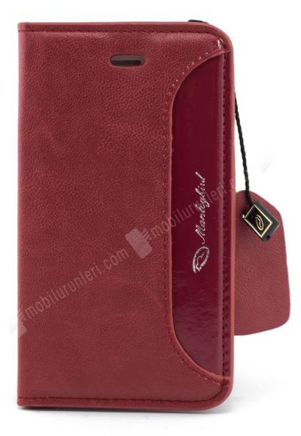 Manleybird Iphone 4/4s Kırmızı Deri Kılıf