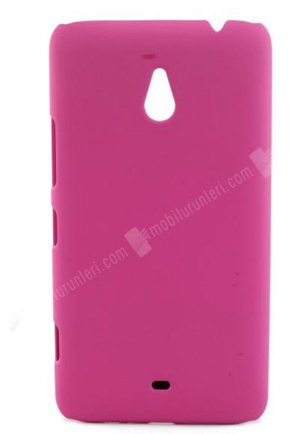 Nokia Lumia 1320 Pembe Rubber Arka Kapak