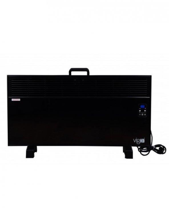Vigo Dijital 2000 Watt Camlı Elektrikli Panel Konvektör Isıtıcı EPK4590E20C
