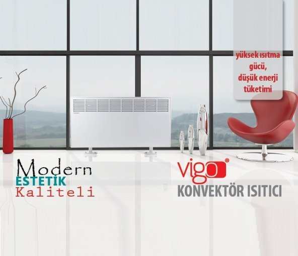 Vigo Manuel 1500 Watt Beyaz Elektrikli Panel Konvektör Isıtıcı EPK4570M15B