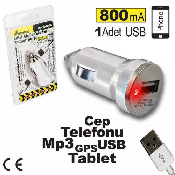 Automix Usb Telefon Ve Tablet Şarjı 36480
