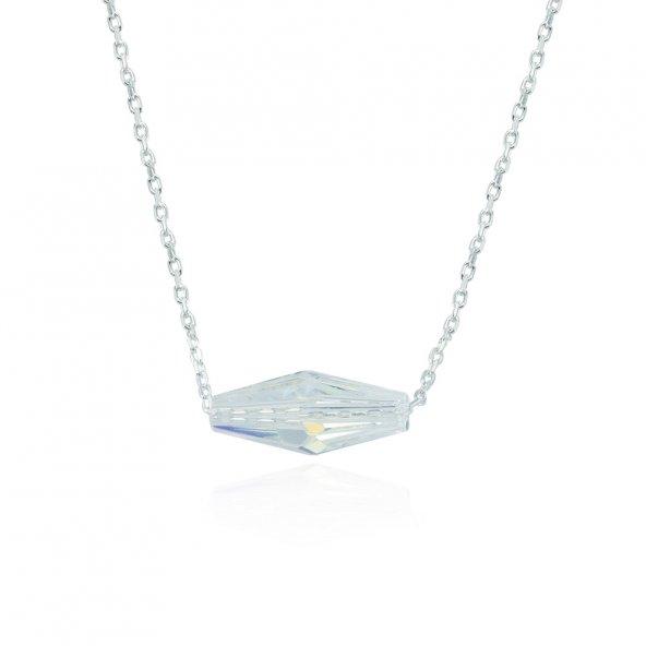 Glorria Gümüş Kristal Taşlı Kolye