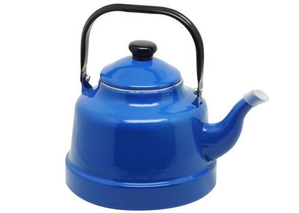 Mavi Çinko Alt Çaydanlık  (Büyük Boy 22no)