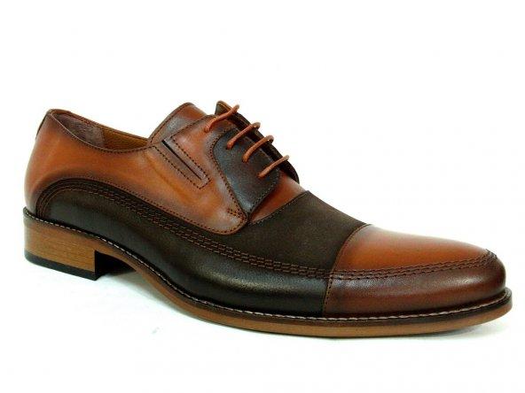 Fastway 1894 Kahve-Taba Deri Bağcıklı Erkek Ayakkabı