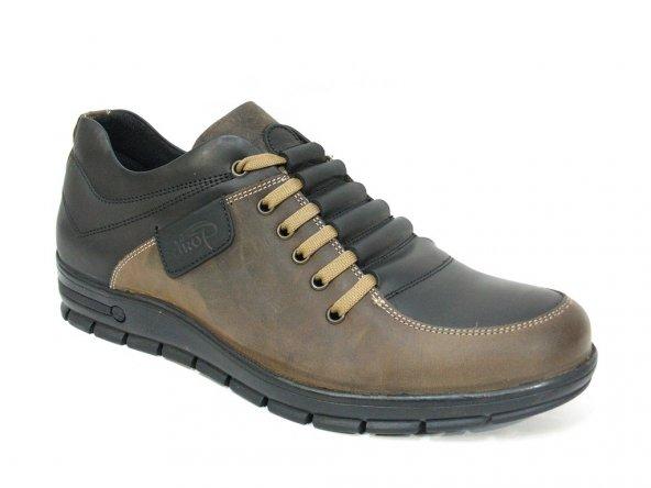 Dropland 3330 Camel-Siyah Bağcıklı Casual Erkek Ayakkabı