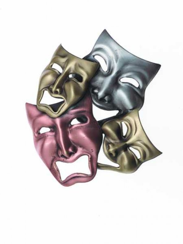 Komedi Trajedi Maskeleri Yaka İğnesi