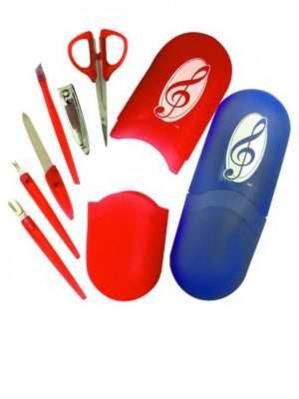 Sol Anahtarlı Manikür Seti - Kırmızı