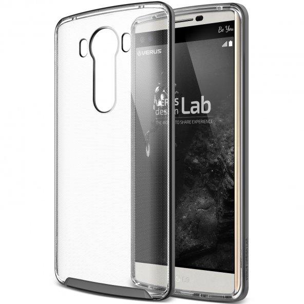 Verus LG V10 Case Crystal Bumper Kılıf Steel Silver