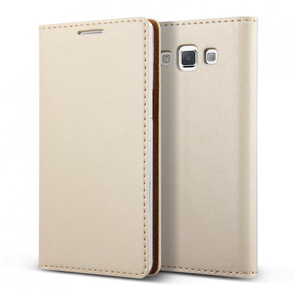 Verus Galaxy A5 Wallet Crayon Slim Diary Kılıf Beige
