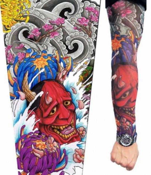 Şeytan Figürlü Giyilebilir Dövme