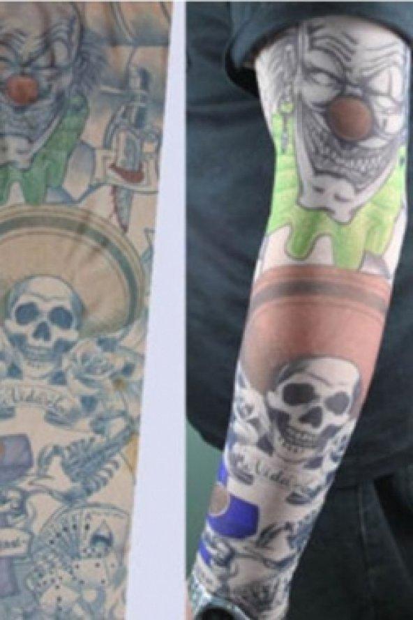 Paylaço Kuru Kafa Motifli Giyilebilir Dövme