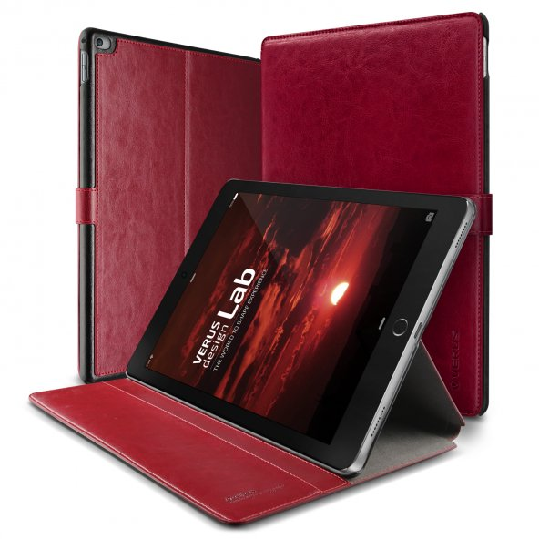 Verus iPad Pro Case Dandy Layered Series Kılıf Wine Black