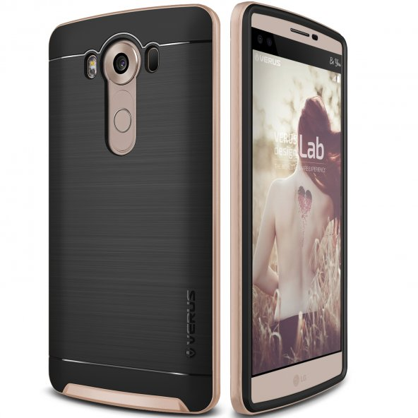 Verus LG V10 High Pro Shield Kılıf Shine Gold