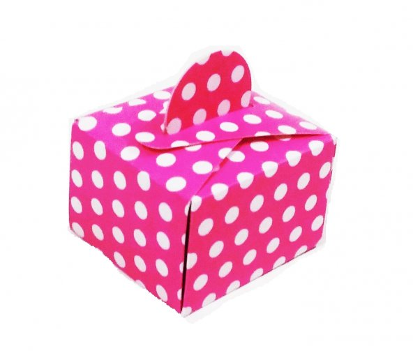 mevlüt şekeri (pembe puantiyeli renk) lokumluk kınalık hediyelik kutular. pakette 50 adet vardır