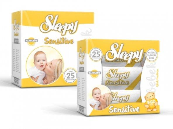 Sleepy Sensitive Islak Mendil 3 x 50 Adet