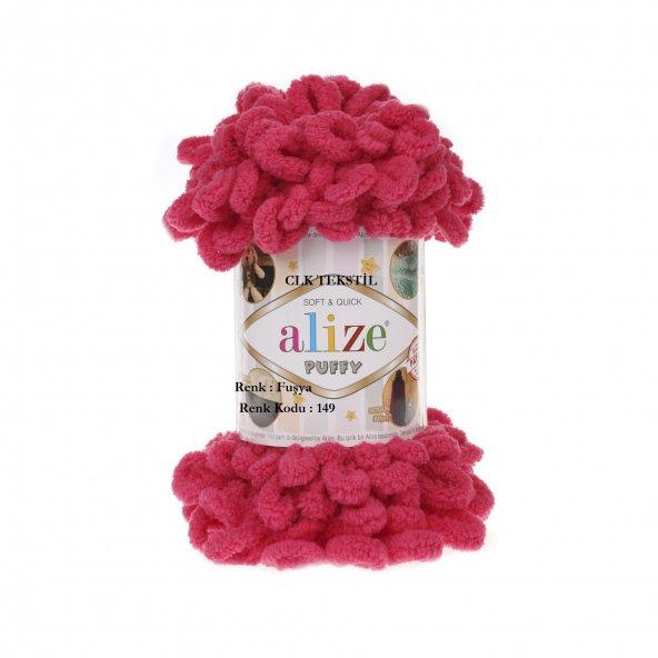 5 Adet Alize Puffy El Örgü İpliği Fuşya Renk Kodu 149