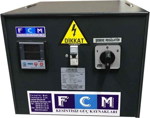 3.5 kVA Monofaze Servo Voltaj regülatörü