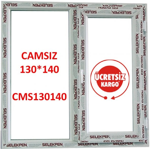 EN 130X140 BOY PENCERE-CAMSIZ