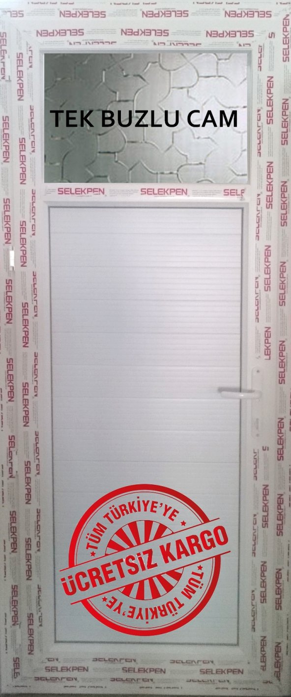 75X220 PVC WC BANYO KAPISI-CAMLI