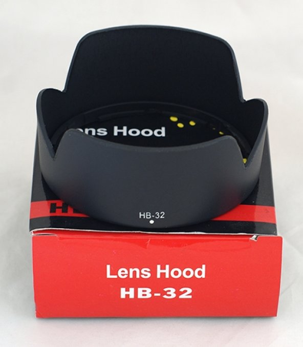 Nikon 18-70mm, 18-105mm, 18-135mm 18-140mm İçin HB-32 Parasoley