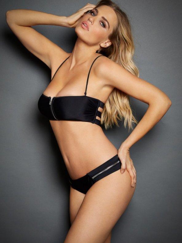 Siyah Fermuarlı Şık Bikini