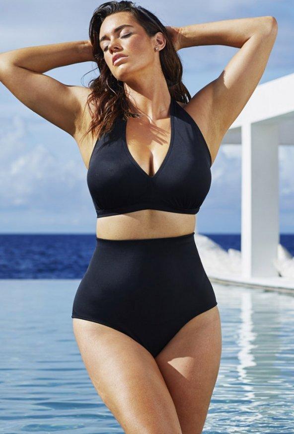 Siyah Yüksek Bel Şık Bikini