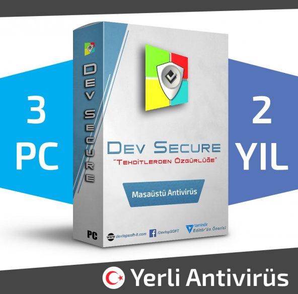 Dev Secure - 3PC, 2YIL - Masaüstü Yerli Antivirüs