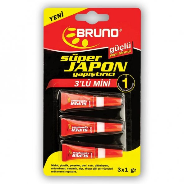 Bruno Süper Japon Yapıştırıcı 3 Lü Set