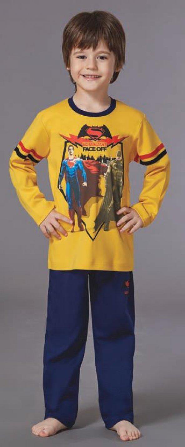 Batman Erkek Çocuk Pijama Takımı 10-16 Yaş
