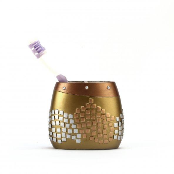 Diş fırçalık Altın mozaik