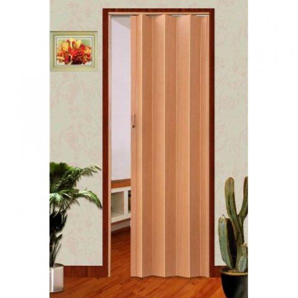 PVC Akordiyon Katlanan Kapı Kayın 100x200 cm