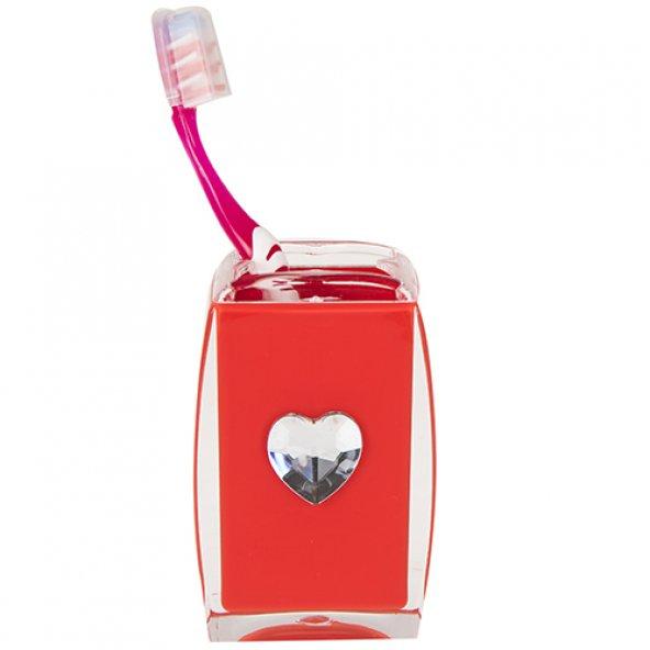 Diş fırçalık Kırmızı kalpli